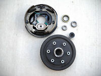 """Replace Right Electric Brake Back Plate Trailer Basic Kit 3500# 6x5.5 Drum 10"""""""