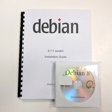 DEBIAN LINUX 8.11 64 Bit (Full 13 DVDs & Printed Manual) DESKTOP, SERVER, OS
