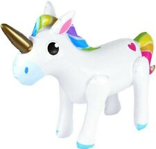 Inflatable Unicorn 53 x 35CM Floating Swimming Pool Beach Party inside outside