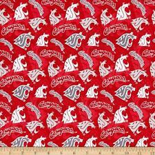 Washington State Cougars NCAA Tone on Tone cotton fabric-WAST-1178-$9.49/yard