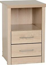 Oak Over 70cm High Bedside Tables & Cabinets with 2 Drawers