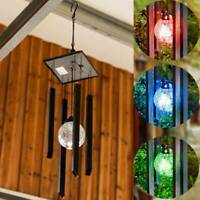 Colour Changing Solar Wind Chime Outdoor Garden Wind Spinner Led Light Windchime