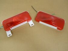 RV Camper Trailer Stop Turn Brake Tail Lights / License Light / White Base /Pair