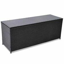 Garten-Aufbewahrungsbox Poly Rattan Gartentruhe Auflagenbox Kissenbox150x50x60cm