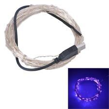 5M USB 50 LED String Lights Copper Wire Christmas Fairy xmas Light purple DC 5V
