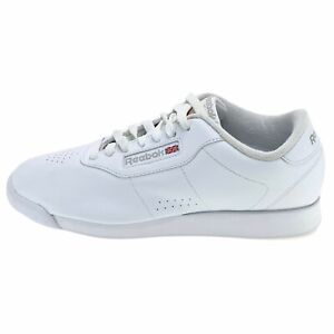 Reebok Womens Princess Classic 30500 White Sneakers Shoes Low Top Lace Up Sz 8.5