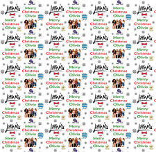 Personalised Christmas Gift Wrap LITTLEMIX 2017 Wrapping Paper