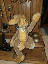 VINTAGE STEIFF LULAC RABBIT 1950-60'S WITH TAG AND BUTTON STUFFED ANIMAL