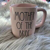 "NEW! RAE DUNN ""Mother of the Bride"" Wedding Coffee Mug Pink Wedding Party Gift"