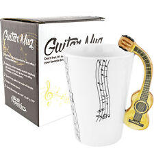 Guitar Musical Ceramic Coffee Mug - Novelty Gift Musical Notes Band Unique New