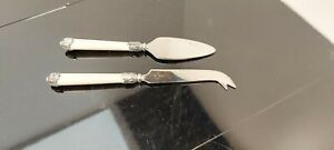 A Set Of Vintage Silver Plated Cake Slice And Cake Knife Set.1930.s.collectable.