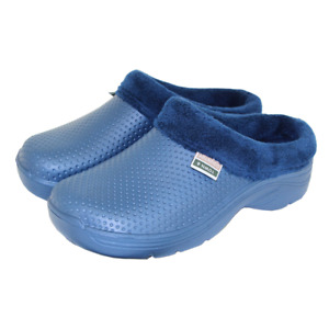 Town & Country Fleecy EVA Cloggies Navy Unisex UK Size 9