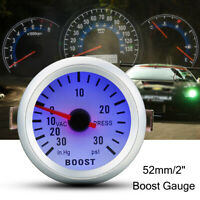 Universale 2'' 52mm Auto Manometro Pressione Turbo 30in. Hg/30psi  Boost