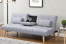 Hot Sale - Modern Stylish 2 / 3 Seater Small Single Sofa Bed Grey Fabric