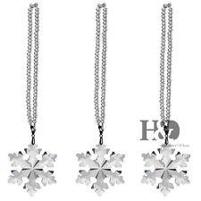 New Clear Crystal Suncatcher Glass Star Little Snowflake Christmas Pendant Gift