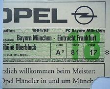 TICKET 1994/95 FC Bayern München - Eintracht Frankfurt
