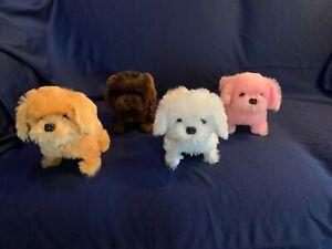 Toy dog Yorkie walks wags barks life-like puppy-size fuzzy fun realistic