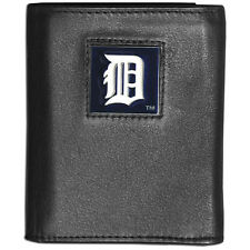 DETROIT TIGERS MLB DELUXE TRI-FOLD FINE GRAIN LEATHER WALLET