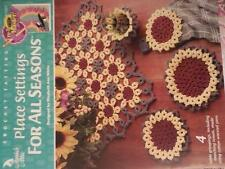 Annie's Attic CROCHET-TATTING PLACE SETTINGS FOR ALL SEASONS OOP