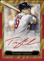 2020 Topps BUNT Tommy Edman Five Star Red Signature ICONIC! [DIGITAL CARD}