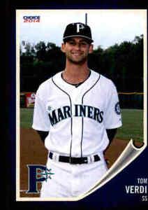 2014 Pulaski Mariners Choice #26 Tom Verdi Warwick Rhode Island RI Baseball Card