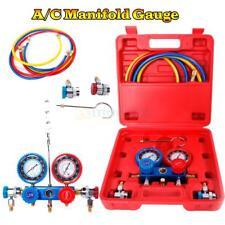 R134 R12 R22 HVAC A/C Refrigeration Kit AC Manifold Gauge Set Auto Service Kit