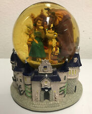 RARE/DISCONTINUED Disney Beauty and the Beast Snow Globe Castle Music Box