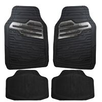 Heavy Duty Rubber Floor Mats Set with Carbon for Volvo XC90 V60 V90 XC40