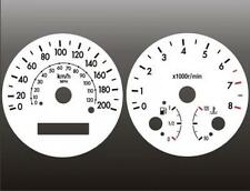 2004-2008 Chevrolet Aveo KMH METRIC Dash Cluster White Face Gauges 04-08