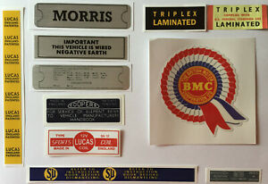 Morris Minor Engine Bay Sticker Pack - Everything you need for a 60's Minor 1000