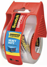 Scotch Heavy Duty Shipping Packaging Tape, Roll with Dispenser, Clear (4 PACK)