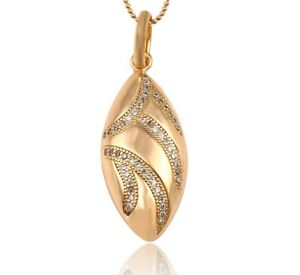 Luxus Glück Oval Kette 750er Gold 18K echt vergoldet Callissi Schmuck Damen