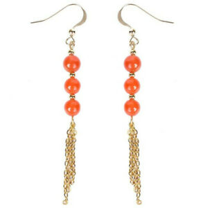 Elegant Natural red agate Gold Earrings Ping buckle 18K Accessories Party