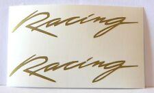 OFFERTA kit 2 adesivi scritta RACING auto moto decal vinyl sticker adesivo