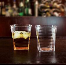 168 Square Rock Tumblers 9oz Wine Glass / Glasses Clear Plastic Cups EMI-Yoshi