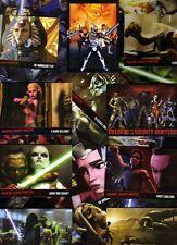 2010 STAR WARS CLONE WARS 3D tv show series 2 full 90 card set