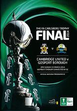 FA TROPHY FINAL 2014 Cambridge United v Gosport Borough