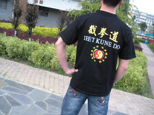 Jeet Kune Do Bruce Lee Martial Arts Black Cotton Short-Sleeved Casual T-shirts