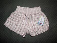 $34.00 BeBop Juniors' Printed Smocked-Waist Linen Blend Shorts, XXS, Coral/Tan
