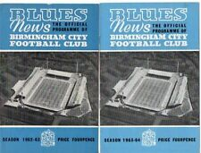 Teams A-B Birmingham City Division 1 Football Programmes
