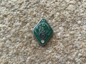 Vintage City Of Nottingham Round Table Enamel Pin Badge