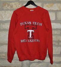 Mens Vintage VTG Texas Tech Red Raiders Crewneck Sweatshirt size Large Red