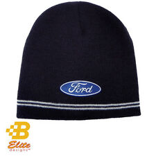 Beanie Hat Cap Ford Blue Oval Navy 143