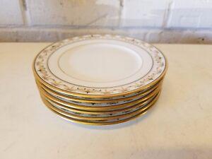 "Ant Richard Ginori Capodimonte Set of 6 Porcelain 6 1/4"" Plates Gin 72 Pattern"