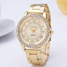 Women's Men's Watch Crystal Rhinestone Stainless Steel Analog Quartz Wrist Watch