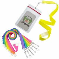 12 Pack - Specialist ID Bright Neon Lanyards with Vertical Ziplock Badge Holders