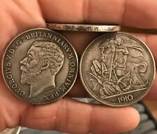 RESTRIKE 1910 PATTERN crown KING GEORGE V SILVER PLATED With Side Inscription