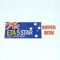 Vintage ETA 5 STAR Sticker 1980s Ripper Reta