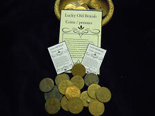 Lucky Old British Coins Pennies Spell supplies Spells charms kits Witchcraft