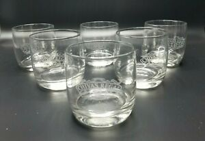 """Set of 6 NEW Chivas Regal Aged 12 Years Scotch Rocks Glass Etched Logo 3.5"""" Tall"""